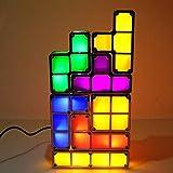 DAKANG Quadratisches Nachtlicht, Bunte kreative DIY Tetris Lampe führte intelligente leuchtende kreative Tischlampe, Steckernetzteil