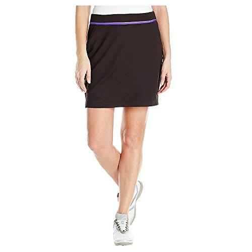 Greg Norman Damen bänderrand Knit Skort, Damen, schwarz - Textured Knit Skirt