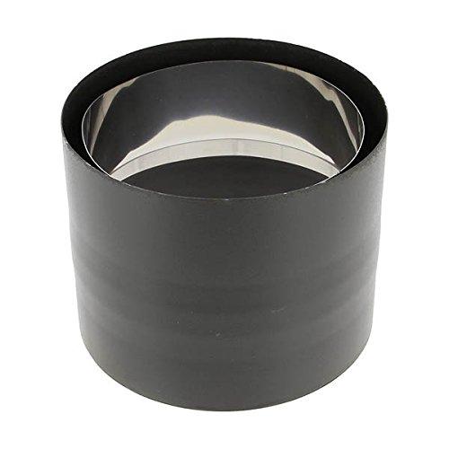 Raccord anti-bistre émail noir mat Diamètre 153mm - 344116