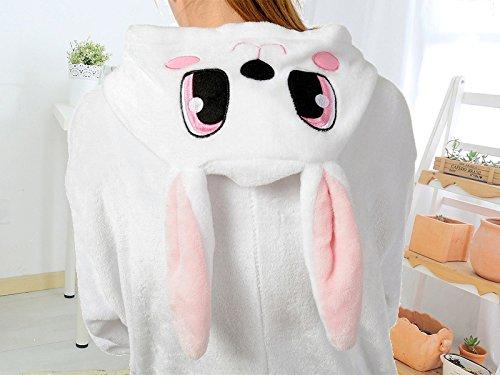 Cliont Animal Onesie Cute Lapin Pyjamas Kigurumi Costume de nuit Costume Anime Cosplay Rose