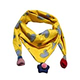 Dragon868 Schal Kinder, Winter Schal Mode Baby Schal Junge Mädchen Halstuch Kopf Hals Kind Schals (Gelb)