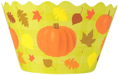 Bella Couture Autumn Pumpkins and Leaves Cupcake Wrappers