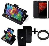 K-S-Trade® Hülle Schutzhülle Case Für -NOA H10le- + Bumper Handyhülle Flipcase Smartphone Cover Handy Schutz Tasche Walletcase Schwarz (1x)