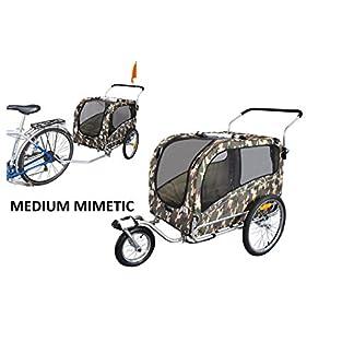 Polironeshop Argo Dog Cart Bicycle Trailer Animal Carrier Pet Bike Trolley with Door 41 2BcV1Vo2cL