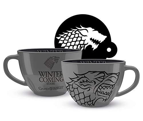 Game of Thrones SCMG25332 Mug Cappuccino céramique 22oz / 630ml-Game of Thrones (Stark)