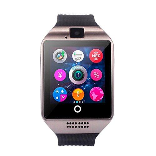 fuibo Smart Watch, Nueva Q18Bluetooth Smart Watch Cámara Soporte de tarjeta SIM para Android Smartphone | inteligente reloj de pulsera Sport Fitness Tracker pulsera, plata