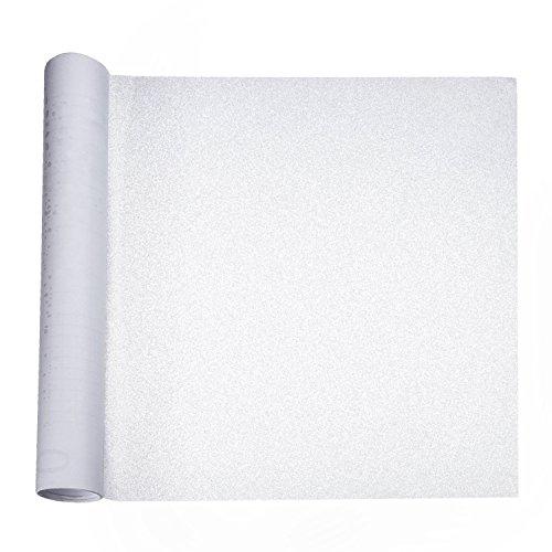 Preisvergleich Produktbild Privacy Fensterfolie Frosted Fenster Aufkleber Anti UV Folien selbstklebende Dekorative Glasfenster Cling für Büro Haus Schlafzimmer Badezimmer, 40 cm x 400 cm/ 15,75 Zoll x 4,37 Yard