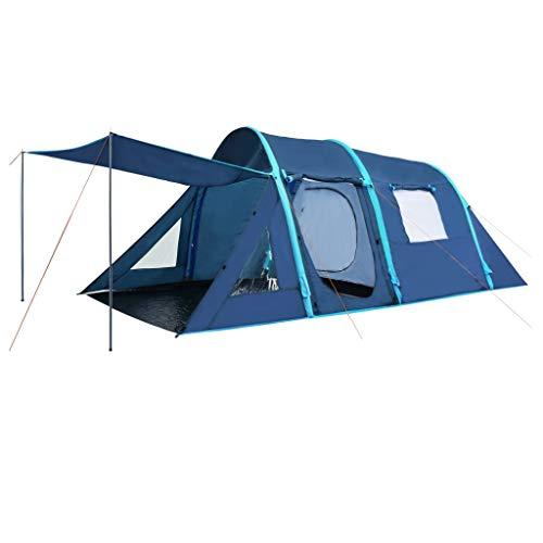 Festnight tenda da campeggio con travi gonfiabili, tenda da campeggio 4 posti 500x220x180 cm blu