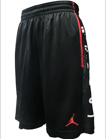 Nike Rise Graphic, Shorts Herren S Nero/Nero/Gym Red/Gym Red Basketball Shorts Schwarz Nike