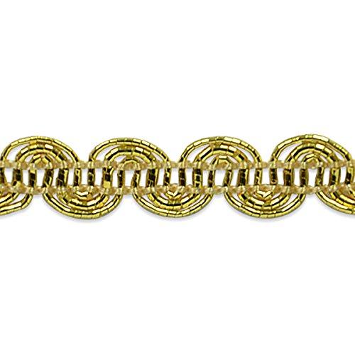 Metallic Scroll (Expo International Pia Metallic Scroll Braid Trim Embellishment, 20-Yard, Gold)