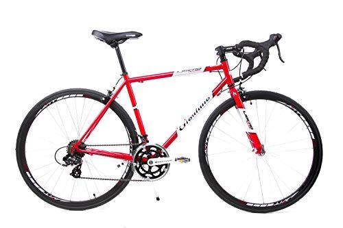 Giordano 28 Zoll Retro Rennrad Fahrrad Race Bike Shimano 14 Gang Stahl Rh 56 cm rot