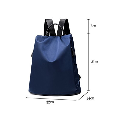 HeHe Unisex Wasserdichtes Nylon Rucksack Perfect Day für Outdoor Camping Picknick School Sports Blau