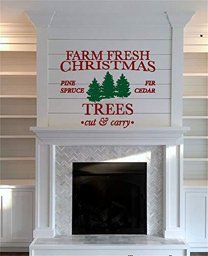 wandaufkleber 3d spiegel wandaufkleber 3d spiegel Farm Fresh Christmas Trees for living room bedroom Farm Spiegel