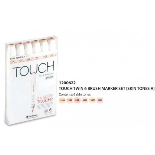 Touch Twin Brush Marker Skin Tones Set A 6 Stück - Twin Brush