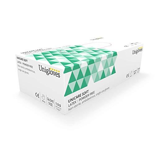 Unigloves UCLPF1203 Latex-Handschuhe, puderfrei, Größe M, 100 Stück