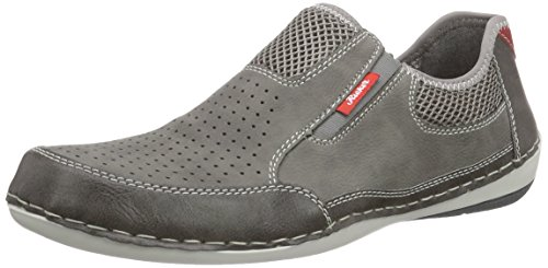 Rieker B9256 Loafers & Mocassins-Men Herren Slipper Grau (stein/cement/dust/fire / 43)
