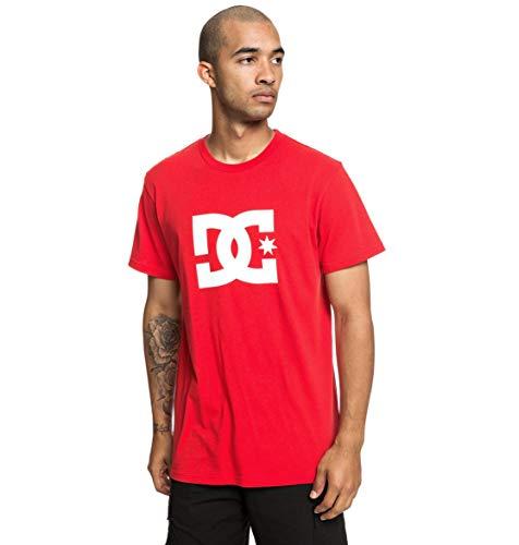 DC Apparel Herren Star Tee-Shirt, Racing Red, L