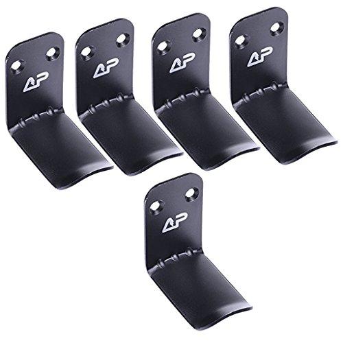 Sharplace 5 Stück Aluminium Overhead Kopfhörer Aufhänger Haken Ständer Aufkleber an der Wand (Kopfhörer-haken-ständer)