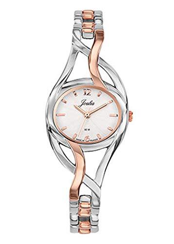 Joalia - Montre Femme - H634M009 - Bracelet Bicolore - Boitier Ovale - Cadran Argent