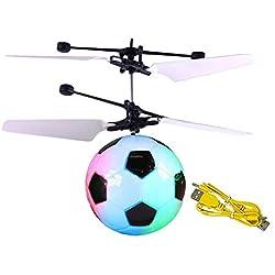 Volar Aviones no tripulados helicóptero Bola de Infrarrojos de inducción con Shinning Colorido LED de luz de Juguete Volador para los niños (de fútbol)