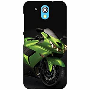 HTC Desire 526G Plus Back Cover - Green Bike Designer Cases