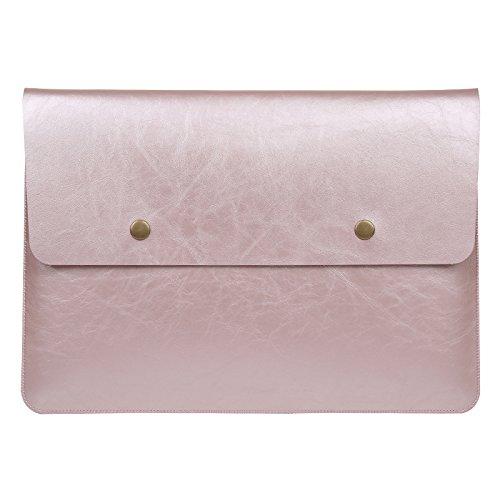 GENORTH Laptop Tasche 13 Zoll Laptophülle Schutzhülle für 13-13,3 Zoll MacBook Pro, MacBook Air, Notebook Computer hülle Wasserdicht (Rosé Gold)