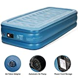 MARNUR Single Air Bed, Inflatable Mattress - Blow Up Airbed with Built-in Electric