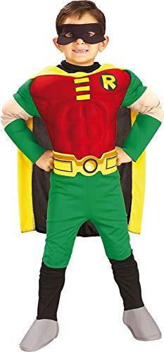 Batman Robin Deluxe Kostüm für Kinder, (Batman Und Robin Kostüm Kinder)