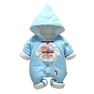 Felpa Puerta de dragón de Salto de Carpa Encapuchado Mono recién Nacido Invierno Moda Niñito Bebé Niños niñas Mameluco… 7
