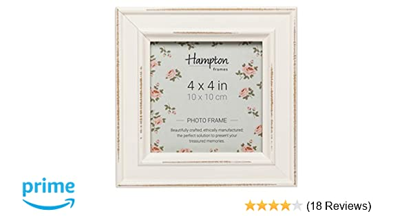 Hampton Frames Paloma Square Photo Frame, Wood, White, 14.5 x 14.5 x ...