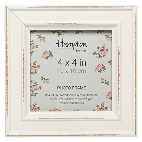 Hampton Optik (Hampton Frames Paloma Bilderrahmen, Holz, quadratisch, weiß, 14,5x 14,5x 2,5cm)