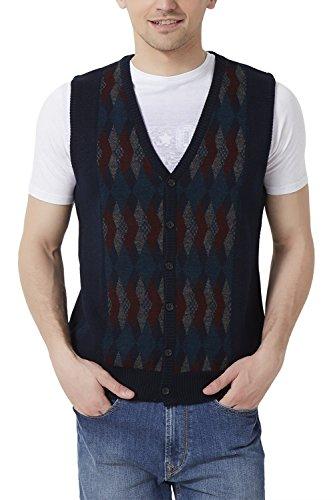 Peter England Men's Regular Fit Sweater_ Psw51500599_m_ Navy