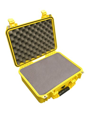 Peli 1500 Case with Foam - Yellow