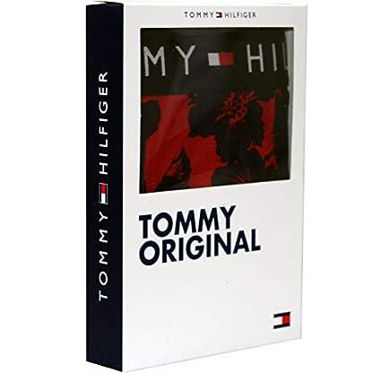 Tommy Hilfiger Impresionante Estampado Floral Hombres Bóxer Tronco, Rojo/Marino