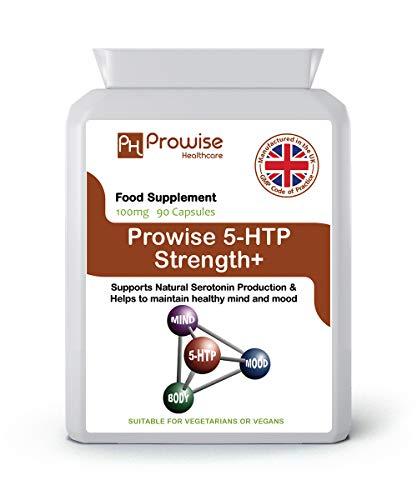 5-HTP 100mg - 90 cápsulas vegetarianas - Reino Unido Fabricado a GMP...