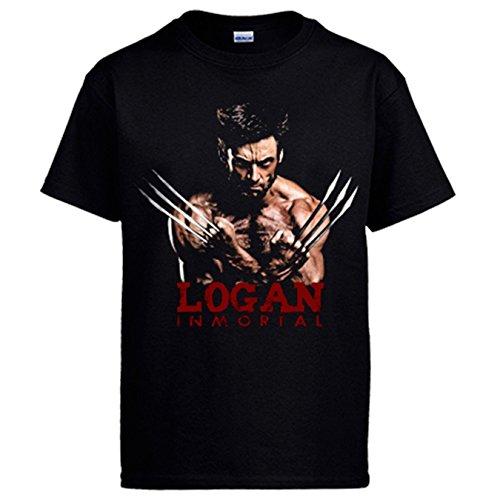 Camiseta X-Men Logan Lobezno Inmortal - Negro, XL