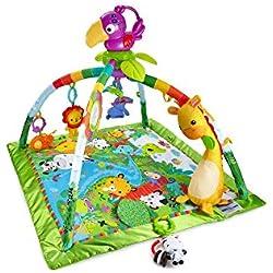 8d96605a7 Fisher-Price Gimnasio deluxe animalitos de la selva, manta de juego bebé  (Mattel