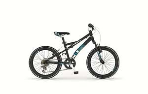 Bicicletta bimbo MTB 20' Shok alluminio nero azzurra 6V MBM