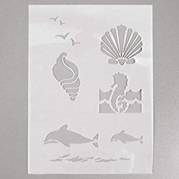 efco Schablone Maritim//4/Designs DIN transparent Kunststoff A 5
