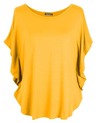 Emma & Giovanni T-Shirt/Oberteile Kurzarm - Damen (Ocker, L/XL)