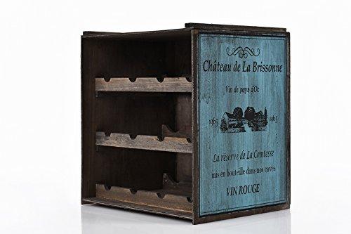 Weinregal (Dunkel) Flaschenregal Regal Weinständer Weinlager Weinschrank Küchenregal Vintage Used Shabby chic