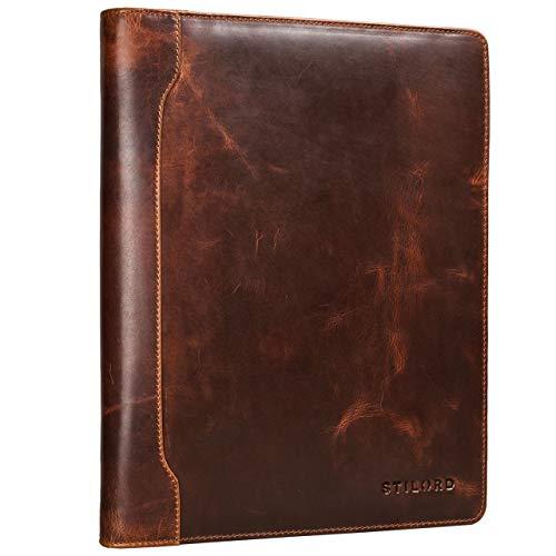 STILORD 'Arvid' Vintage Pochette à Documents Cuir Porte-Documents Portfolio Agenda d'affaires A4 13,3 Pouces Business