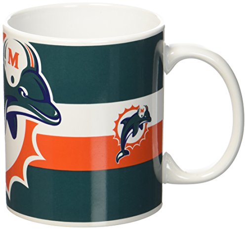 Miami Dolphins NFL Mug Striped Official Licensed Tea Coffee (Tom Brady Helm)