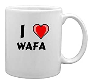 Mug I Love Wafa (Première Nom/prénom/surnom)