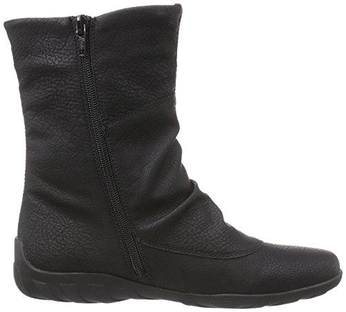 Remonte Dorndorf  R3479, Bottes de neige de hauteur moyenne, doublure chaude femmes Noir (Noir Combiné)