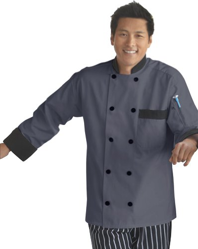 Uncommon Threads Damen Chef Coat 10 BTN Slate/Black Trim 6XL Work Utility Hemd, -