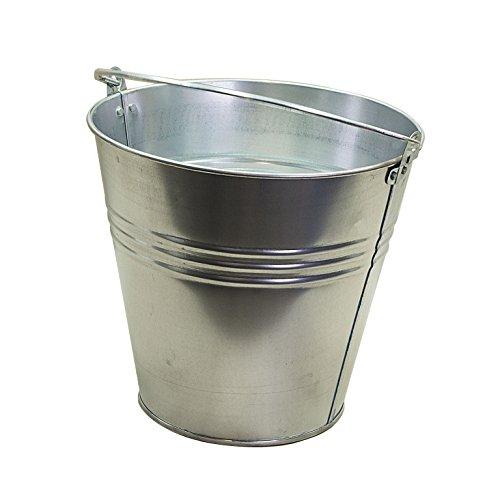 RM S de Commerce Chapa Metal Cubo Cubo de Agua Deko–Cubo macetero (15L galvanizado Maceta Maceta Zinc