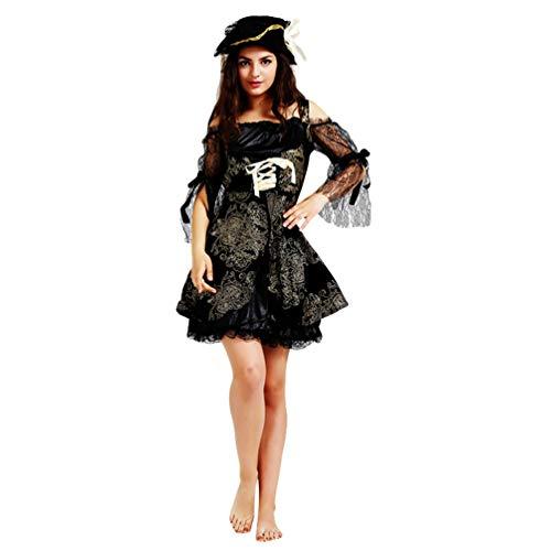 Jitong Königin Verkleidung Cosplay Kostüm für Halloween Unisex Kreative Piratenkostüm Partner Kleidung (Pirat  Frauen, Eine Größe)