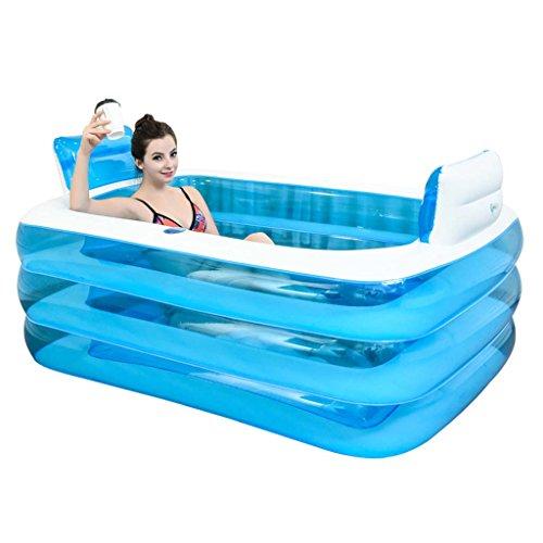 Para Dos Personas Bañera Hinchable Portátil Para Adultos, Plegable Cómodo Baño, Espesar Spa Casero...