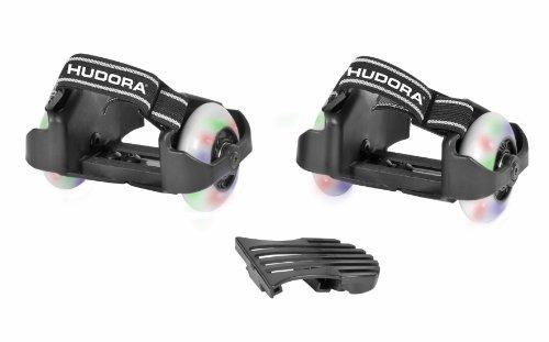 Patines Bold Buddy 's Hudora 22007 – Ruedas para colocar en los zapatos, color blanco y negro